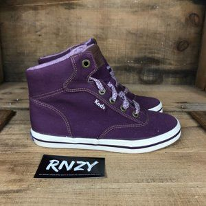 Keds Purple High Top Lace Up Sneakers